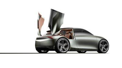Genesis Mint Concept với thiết kế cửa cắt kéo kỳ lạ.