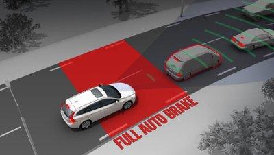 Phanh tự động khẩn cấp trên ô tô a1