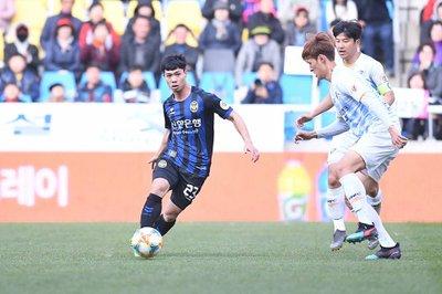 Công Phượng tham gia thi đấu cho Incheon United