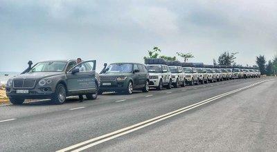 Đoàn xe của Trung Nguyên trong Hành trình từ trái tim...