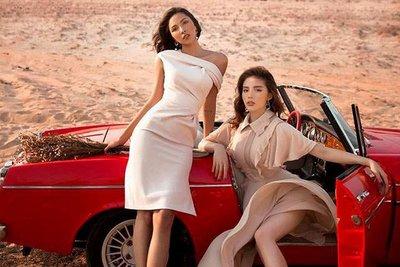 Người mẫu Minh Triệu và Hoa hậu Kỳ Duyên khoe sắc bên Datsun 1600 cổ điển - Ảnh 4.