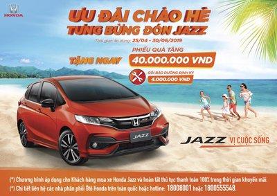 Honda Việt Nam tung khuyến mại chào hè cho Honda Jazz