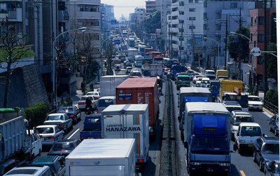 Tắc đường kinh hoàng ở Tokyo, Nhật Bản.