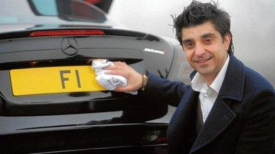 Biển số xe ô tô 'F1'- Anh Quốc.