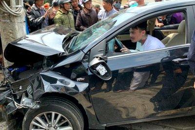 Tài xế nghi ngáo đá gây tai nạn liên hoàn