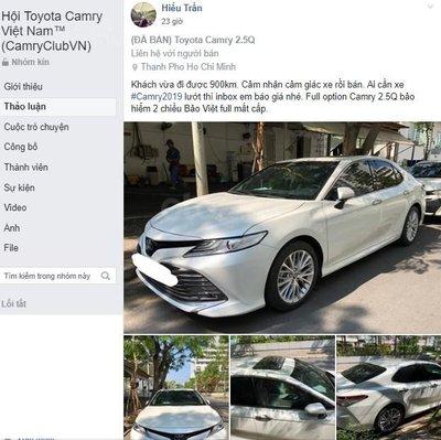 Toyota Camry 2019 chưa đăng kiểm, đi 900km đã rao bán với giá sốc a2
