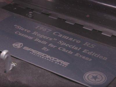 Tấm biển đặc biệt biến Camaro RS độ
