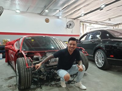 Ferrari 488 GTB gặp nạn của Tuấn Hưng sắp được tân trang a2