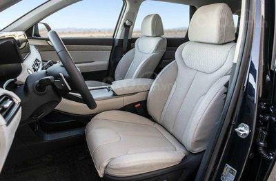 Hàng ghế lái trên Hyundai Palisade 2020.