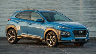 Hyundai Kona đời 2019 màu xanh
