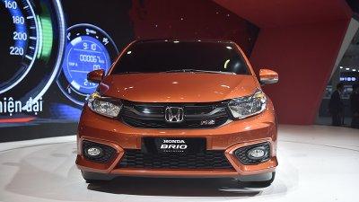 Honda Brio có thiết kế ngoại thất trẻ trung và bắt mắt...