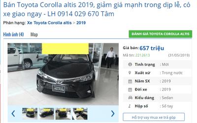 Đại lý hạ giá sốc cho Toyota Corolla Altis: Dọn đường cho phiên bản mới? a1