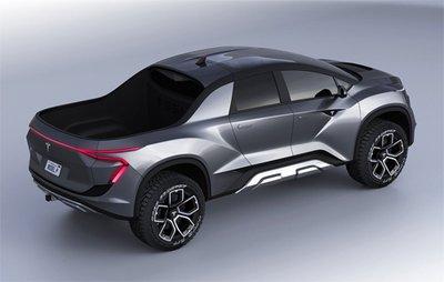 Tesla Pick-up có thùng xe bé và thiết kế cơ bắp...