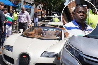 """Bugatti Veyron trị giá hơn 40 tỷ đồng gặp """"sao quả tạ"""" chỉ vài phút cùng chủ mới rời đại lý a1"""
