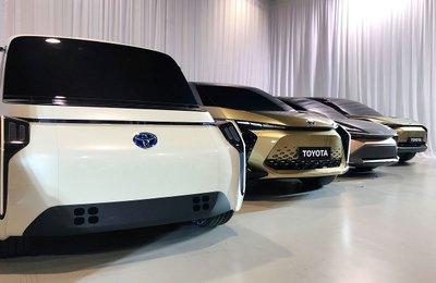 Một số mẫu xe concept chạy điện của Toyota.
