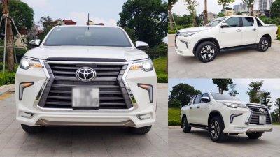 """Toyota Hilux tại Việt Nam """"hóa thân"""" thành Lexus LX 570 a1"""