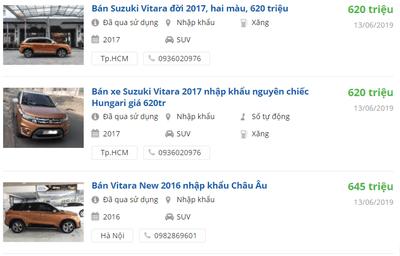 Thông số kỹ thuật xe Suzuki Vitara a10