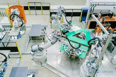 Xưởng dập của nhà máy ô tô VinFast 1.