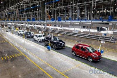 Xưởng lắp ráp tại nhà máy sản xuất ô tô VinFast.