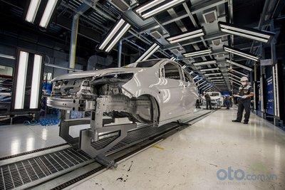 Xưởng hàn của nhà máy ô tô VinFast.