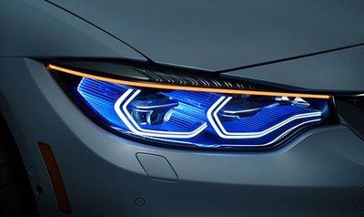 Đèn pha, cốt trên xe BMW i8...