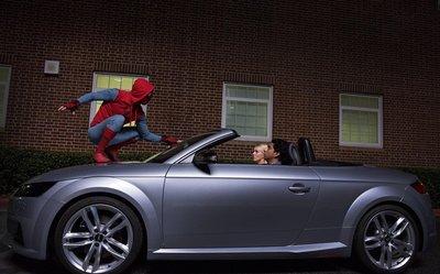 Audi e-tron GT sánh đôi với Spider-Man trong bộ phim bom tấn sắp công chiếu a9
