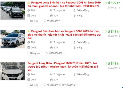 Giá xe Peugeot 408 2019 tại đại lý 1