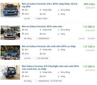 Giá xe Subaru Forester 2019 chưa ra mắt đã có ưu đãi - Ảnh 1.