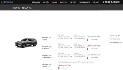 Mazda CX-8 2019 quay trở lại giá thực, tăng cao nhất 125 triệu đồng a4