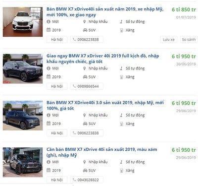 Giá xe BMW X7 2019 mới tại đại lý khởi điểm từ 6,85 tỷ đồng, nhận giao xe ngay - Ảnh 1.
