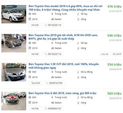 Toyota Vios giảm giá mạnh tại đại lý, khách lời hàng chục triệu khi qua tay bán lại - Ảnh 1.