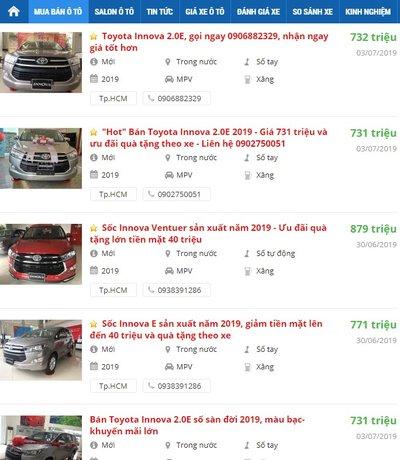 Thêm đối thủ, Toyota Innova giảm giá đến 40 triệu đồng a2