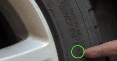 Cách đọc thông số lốp - Đường kính vành.