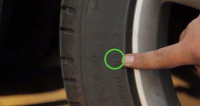 Cách đọc thông số lốp - Tìm chỉ số tải trọng của lốp xe.