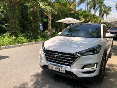 Hyundai Santa Fe 2019 tại đường thử