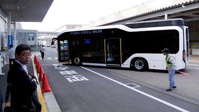 Xe bus chạy nhiên liệu hydro của Toyota.