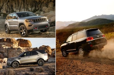 Jeep Grand Cherokee, Land Rover Discovery, Toyota Land Cruiser