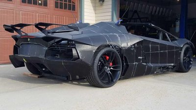 Ngắm chiếc Lamborghini Aventador 3D tự chế của hai bố con Tiến sĩ vật lý a4