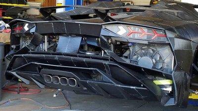 Ngắm chiếc Lamborghini Aventador 3D tự chế của hai bố con Tiến sĩ vật lý a5