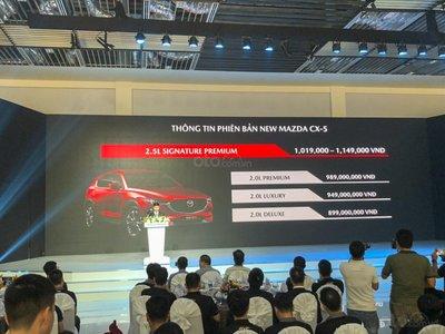 Giá bán mới của Mazda CX-5 2019.