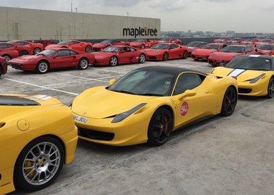 Dàn siêu xe Ferrari tập hợp ở Singapore 7