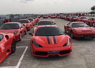 Dàn siêu xe Ferrari tập hợp ở Singapore 2