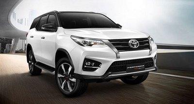 Toyota Fortuner đứng đầu phân khúc SUV