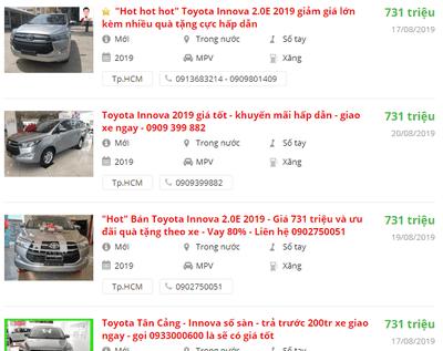 """Sợ vía tháng """"cô hồn"""", đại lý sale sập sàn Toyota Innova 2019 bản E và Venturer 1"""