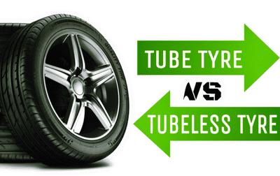 So sánh lốp xe không săm và lốp có săm.