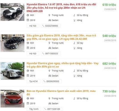 Hyundai Elantra 2019 giảm giá mạnh tại đại lý trong tháng 8/2019.