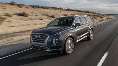 Hyundai Palisade 2020 đang chạy trên đường