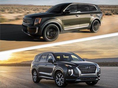 So sánh Kia Telluride và Hyundai Palisade 2020.