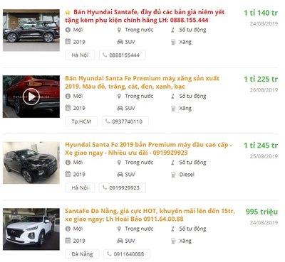 Giá xe Hyundai Santa Fe tại đại lý tháng 8 có gì hấp dẫn? - Ảnh 1.
