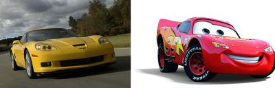 Lightning McQueen - Chevrolet Corvette C6